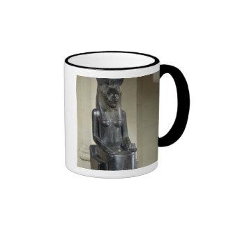Estatua de la diosa león-dirigida Sekhmet, del th Taza De Dos Colores