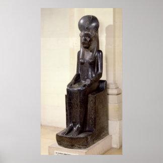 Estatua de la diosa león-dirigida Sekhmet Posters