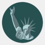 Estatua de la dosificación liberal pegatinas redondas