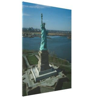 Estatua de la fotografía de la libertad - 3 impresión en lienzo estirada
