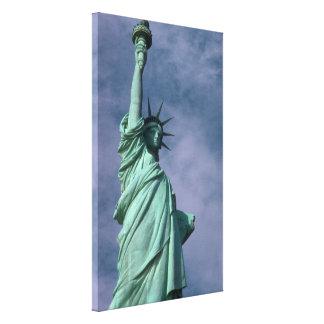 Estatua de la fotografía de la libertad - 4 impresión en lona estirada