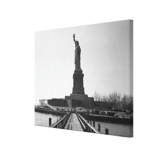Estatua de la fotografía de la libertad - 5 impresión en lienzo