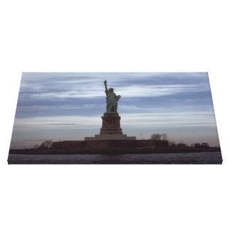 Estatua de la fotografía de la libertad - 6 impresión en lienzo