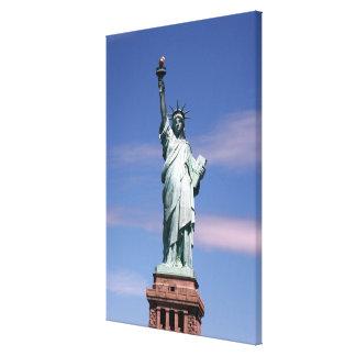 Estatua de la fotografía de la libertad impresiones en lienzo estiradas
