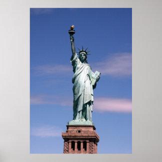 Estatua de la fotografía de la libertad póster