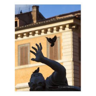 Estatua de la fuente de Navona Bernini de la Postales