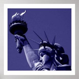 Estatua de la impresión del poster de la libertad