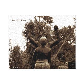 Estatua de la liberación - isla de Goree, Senegal Impresión En Lienzo