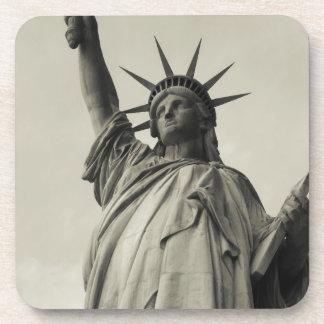 Estatua de la libertad 10 posavasos de bebida