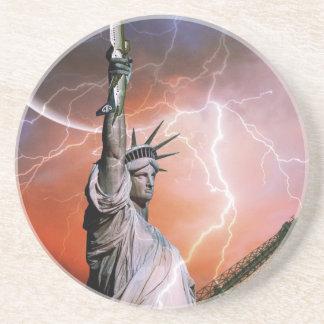 Estatua de la libertad 12 posavasos personalizados