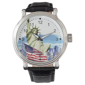 Estatua de la libertad 2 relojes