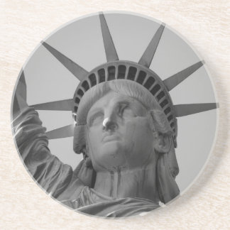Estatua de la libertad 4 posavasos cerveza