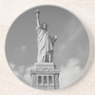 Estatua de la libertad 6 posavaso para bebida