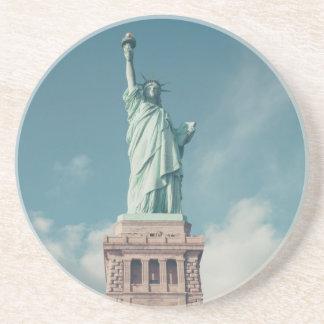 Estatua de la libertad 6 posavasos manualidades