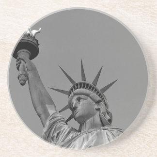 Estatua de la libertad 7 posavasos para bebidas