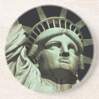 Estatua de la libertad 8 posavasos de arenisca