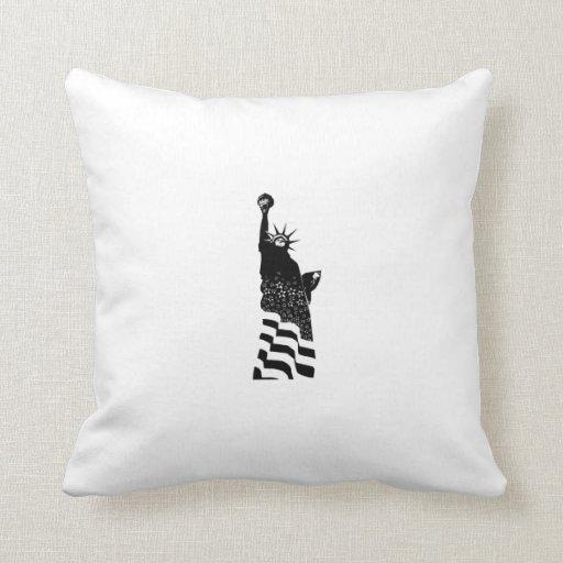Estatua de la libertad almohadas