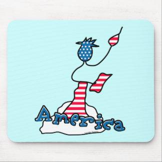 Estatua de la libertad América Alfombrillas De Ratones