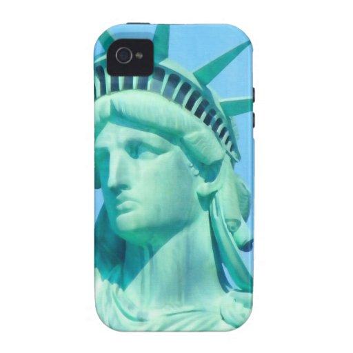 Estatua de la libertad americana para el arte de Case-Mate iPhone 4 funda