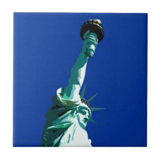 Estatua de la libertad azulejo cuadrado pequeño