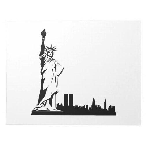 Estatua de la libertad bloc de papel