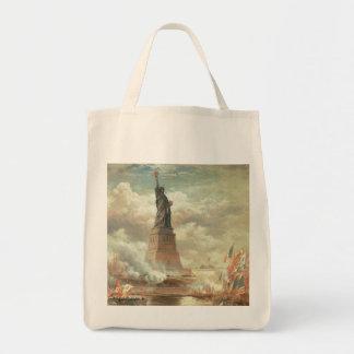 Estatua de la libertad bolsa tela para la compra