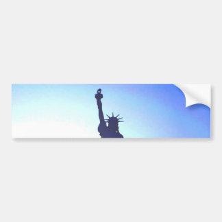 Estatua de la libertad pegatina de parachoque
