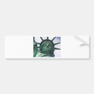 Estatua de la libertad etiqueta de parachoque