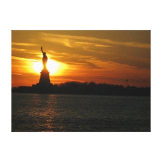 estatua de la libertad caliente impresión en tela