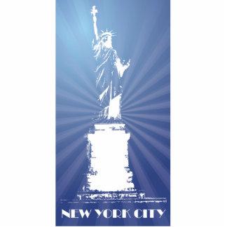 Estatua de la libertad de la ciudad de Nueva York Imán Fotoescultura
