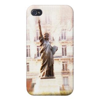 Estatua de la libertad del caso del iPhone 4 de Pa iPhone 4/4S Funda