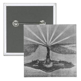 Estatua de la libertad, 'del Graphic Pin Cuadrada 5 Cm