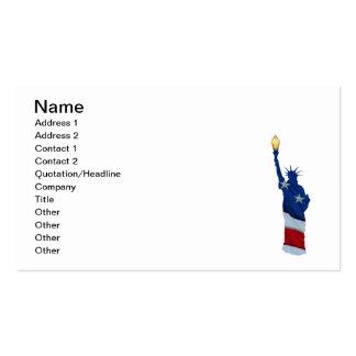 Estatua de la libertad en cualquier color tarjetas de visita