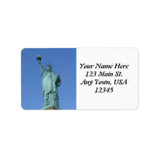 Estatua de la libertad etiquetas de dirección