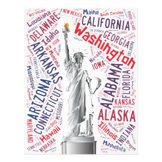 "Estatua de la libertad folleto 8.5"" x 11"""