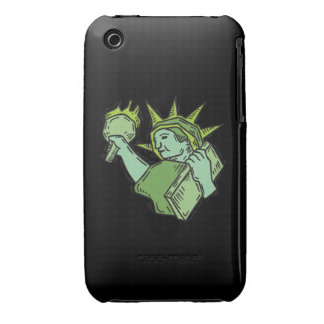 Estatua de la libertad Case-Mate iPhone 3 protectores