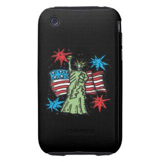 Estatua de la libertad tough iPhone 3 funda