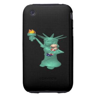 Estatua de la libertad tough iPhone 3 cárcasas