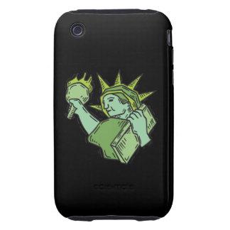Estatua de la libertad tough iPhone 3 protector