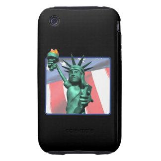 Estatua de la libertad iPhone 3 tough cárcasa