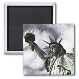 Estatua de la libertad imán cuadrado