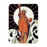 Estatua de la libertad iman rectangular