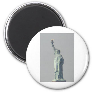 Estatua de la libertad imán redondo 5 cm