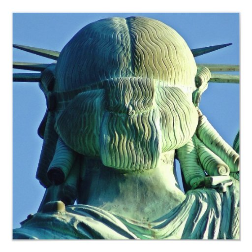 "Estatua de la libertad invitación 5.25"" x 5.25"""