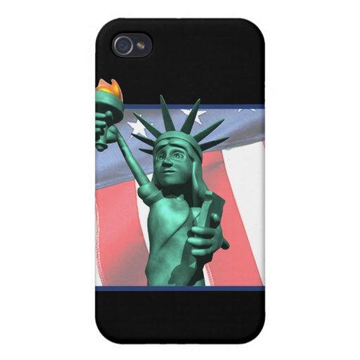 Estatua de la libertad iPhone 4 funda