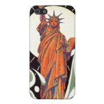 Estatua de la libertad iPhone 5 protectores