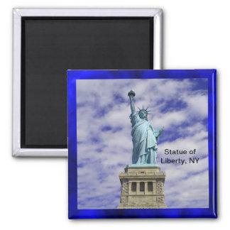 Estatua de la libertad, isla de Ellis, Nueva York Imán Cuadrado