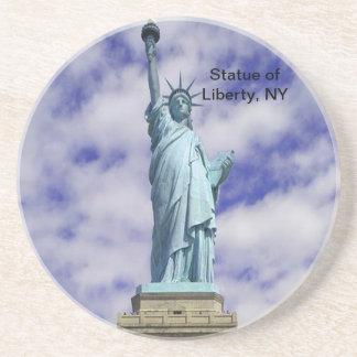 Estatua de la libertad, isla de Ellis, Nueva York Posavasos Personalizados