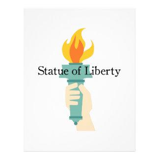 Estatua de la libertad membretes personalizados