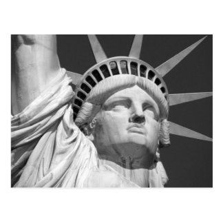 Estatua de la libertad negra y blanca postales